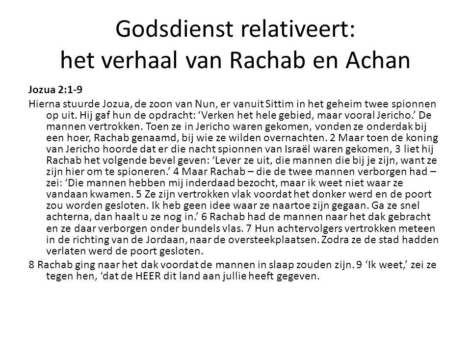 Godsdienst relativeert: het verhaal van Rachab en Achan