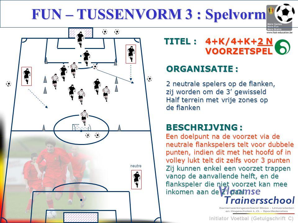 FUN – TUSSENVORM 3 : Spelvorm