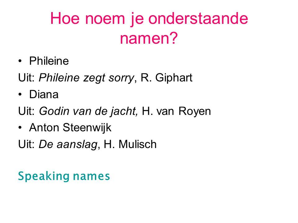 Hoe noem je onderstaande namen