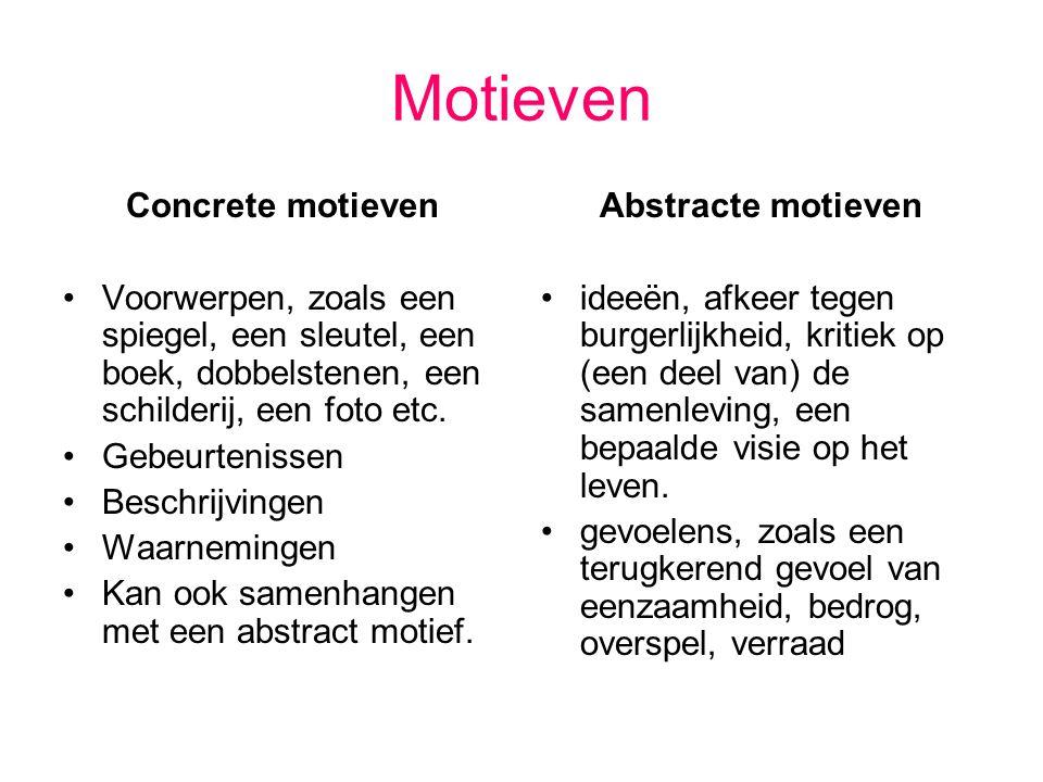 Motieven Concrete motieven
