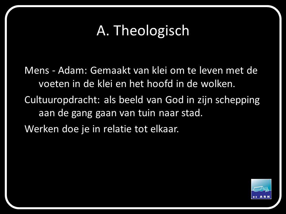 A. Theologisch Mens - Adam: Gemaakt van klei om te leven met de voeten in de klei en het hoofd in de wolken.