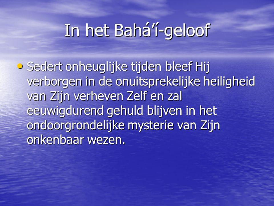 In het Bahá'í-geloof