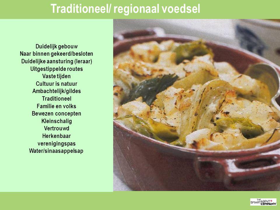 Traditioneel/ regionaal voedsel
