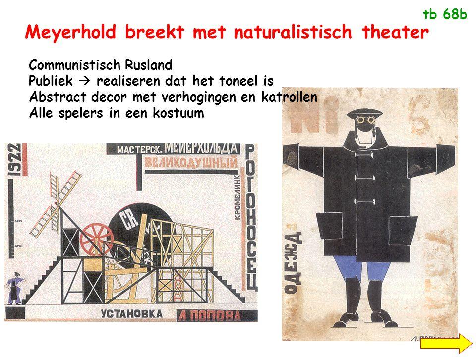 Meyerhold breekt met naturalistisch theater