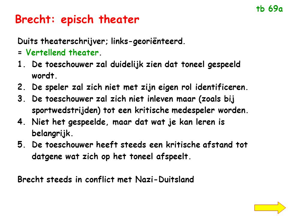 Brecht: episch theater