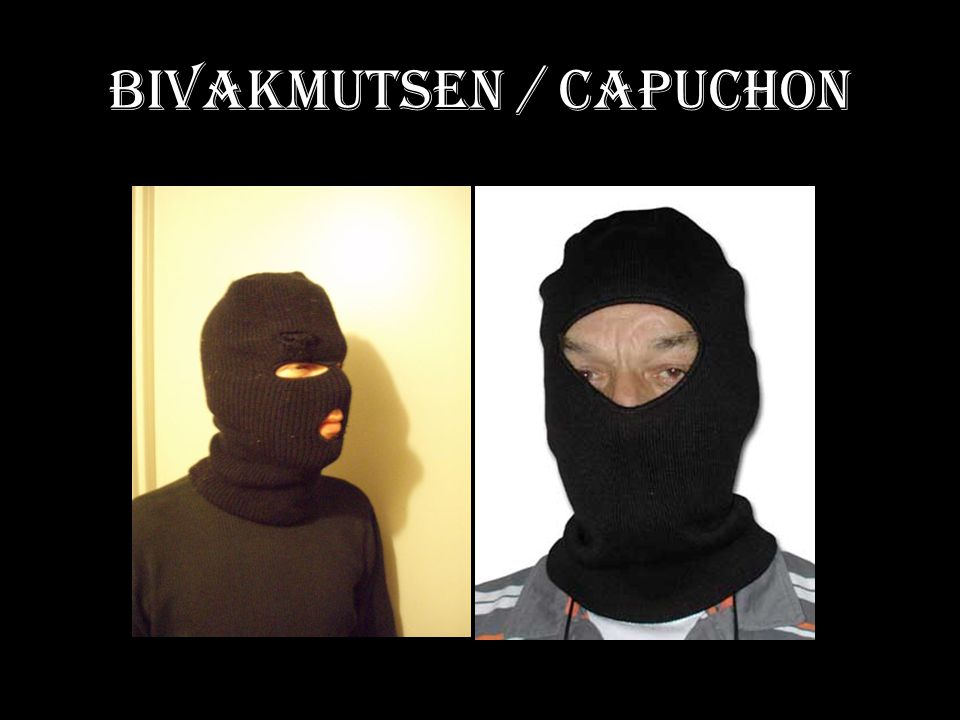 Bivakmutsen / capuchon
