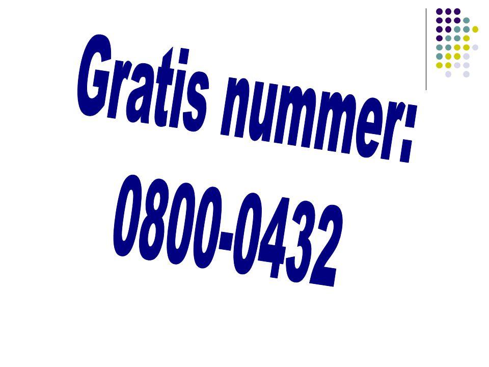 Gratis nummer: 0800-0432