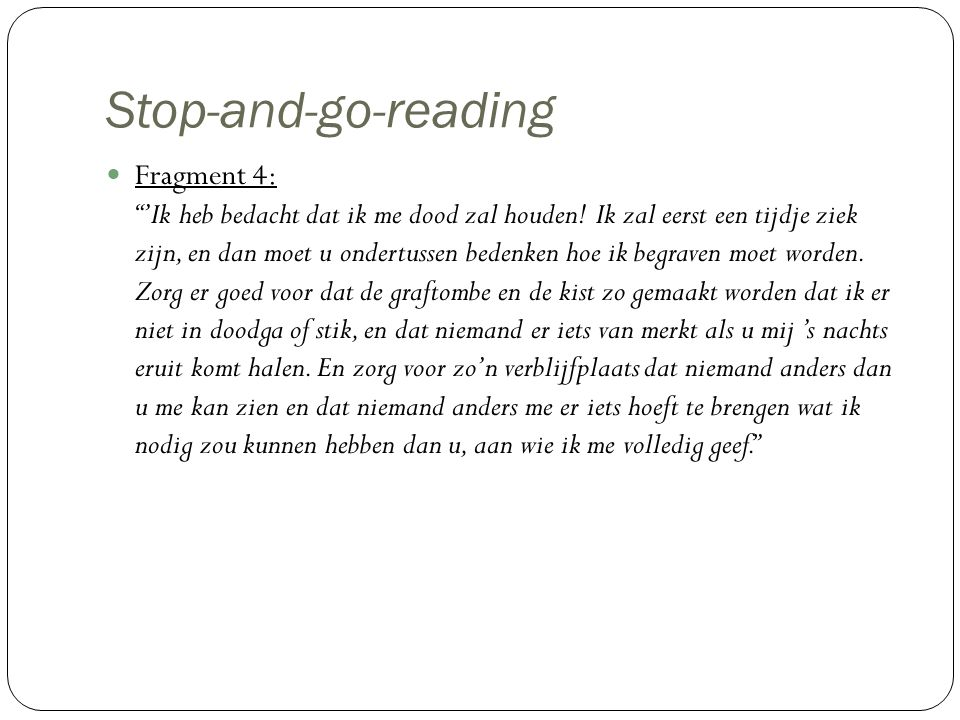 Stop-and-go-reading