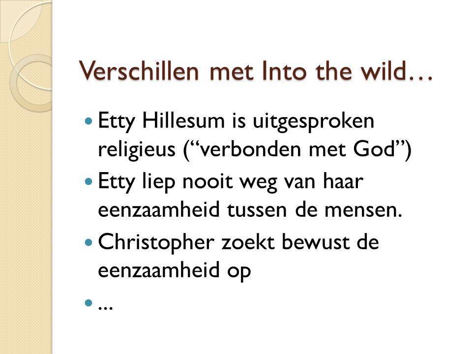 Verschillen met Into the wild…