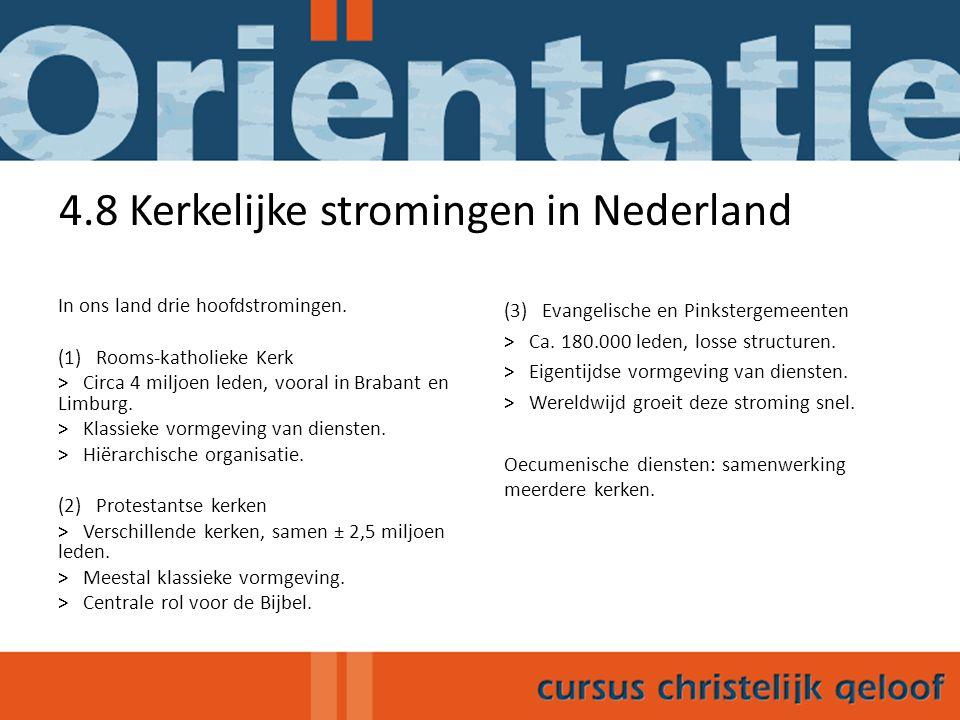 4.8 Kerkelijke stromingen in Nederland