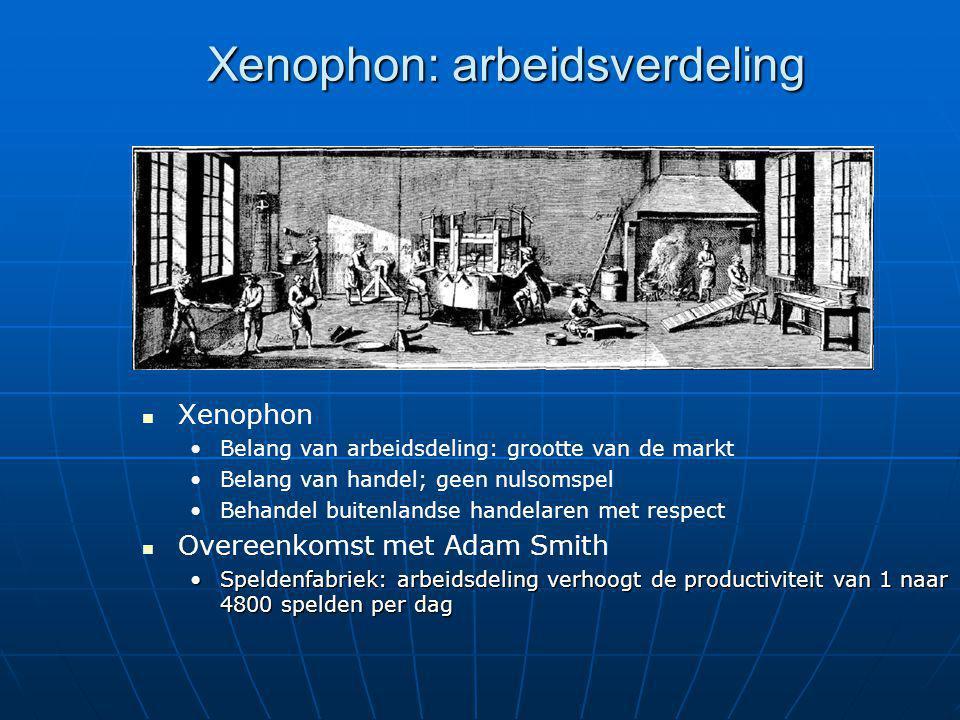Xenophon: arbeidsverdeling
