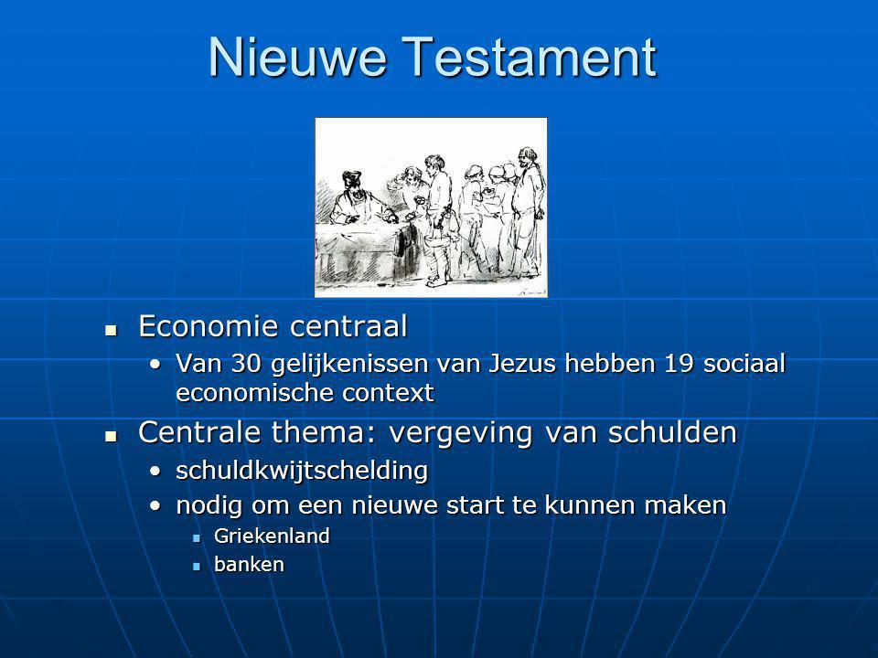 Nieuwe Testament Economie centraal