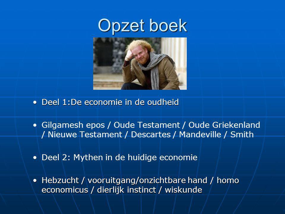 Opzet boek Deel 1:De economie in de oudheid