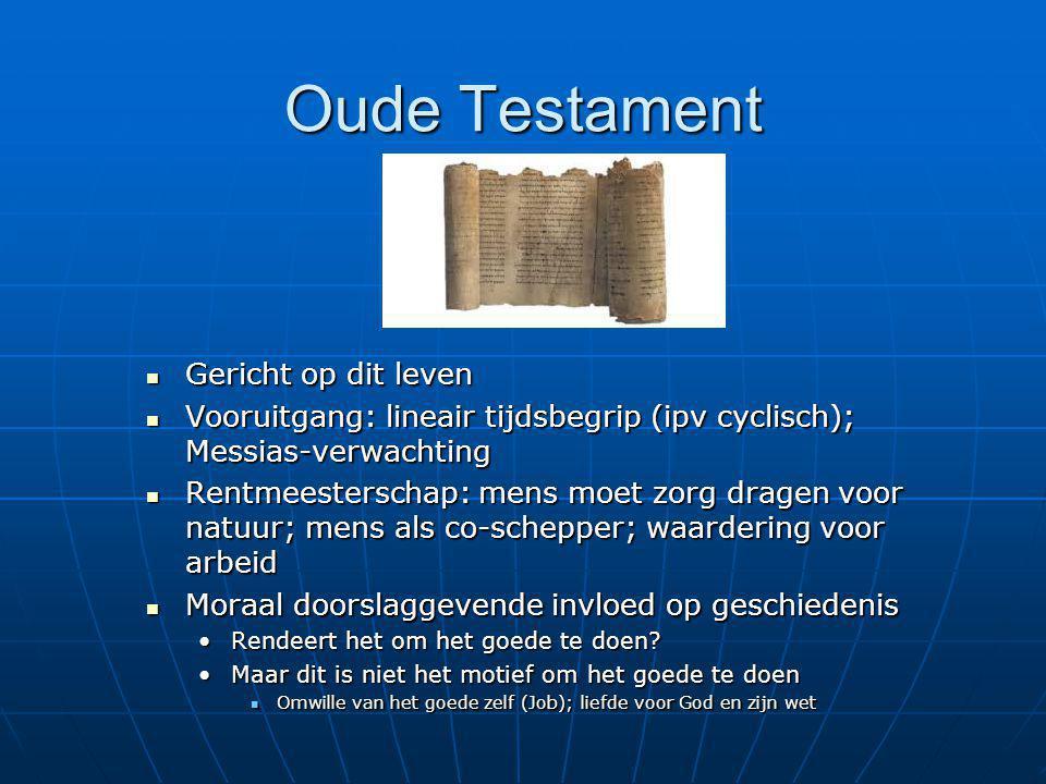 Oude Testament Gericht op dit leven
