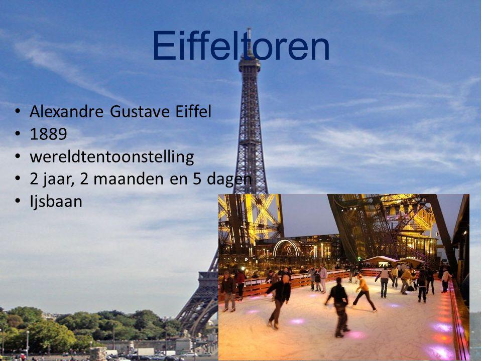Eiffeltoren Alexandre Gustave Eiffel 1889 wereldtentoonstelling