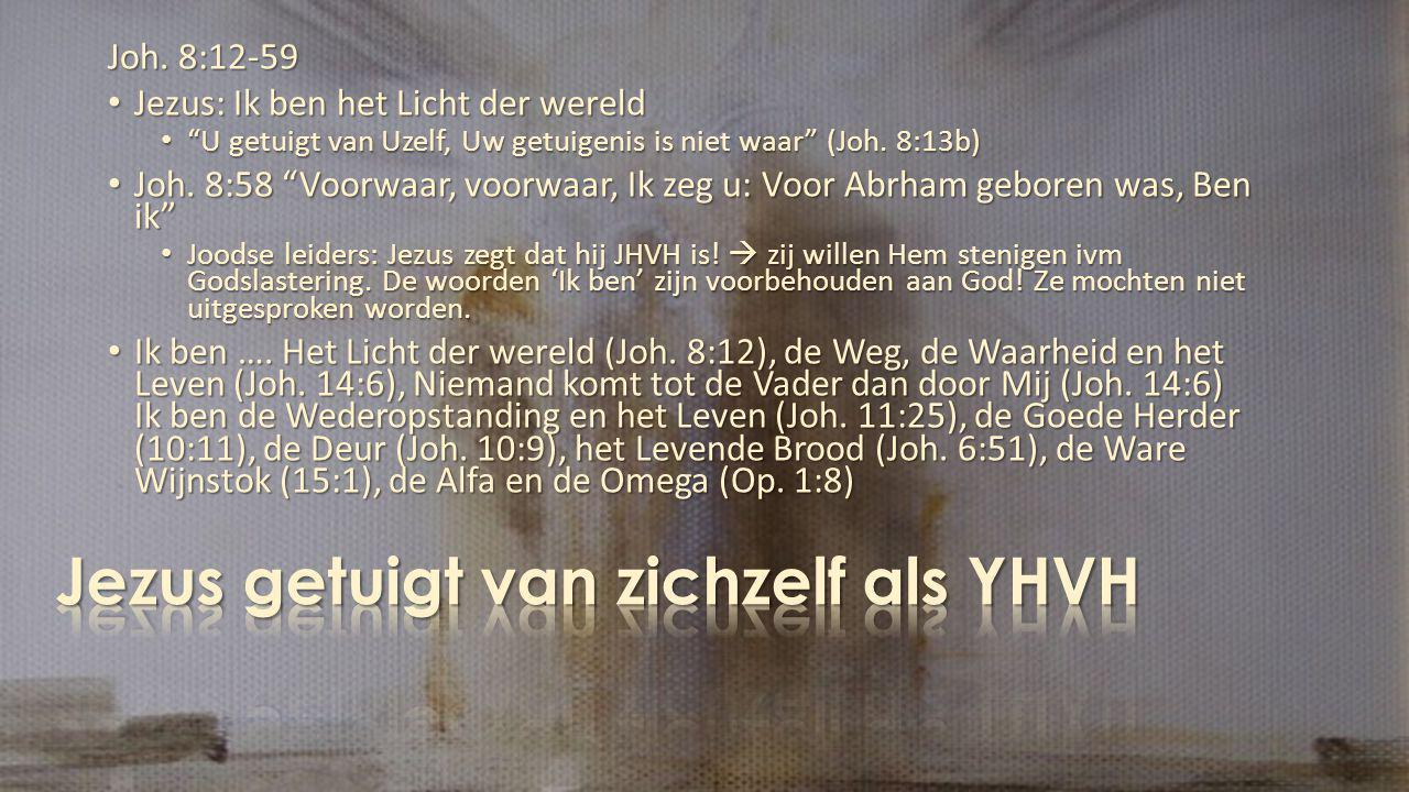 Jezus getuigt van zichzelf als YHVH