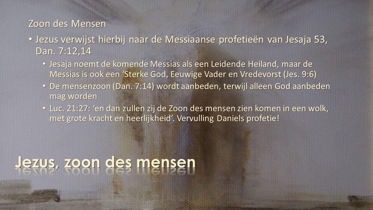 Jezus, zoon des mensen Zoon des Mensen