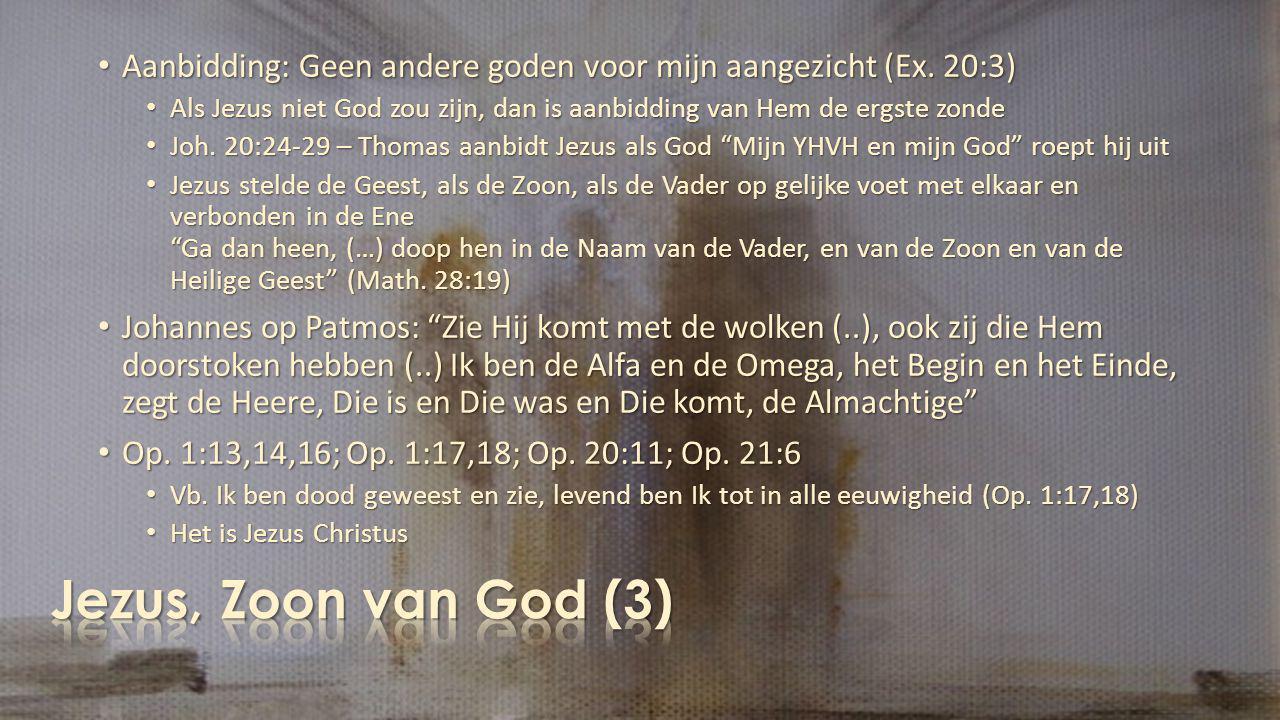 Aanbidding: Geen andere goden voor mijn aangezicht (Ex. 20:3)