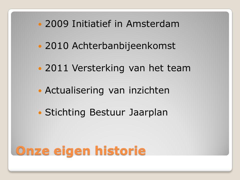 Onze eigen historie 2009 Initiatief in Amsterdam