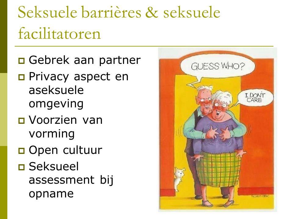 Seksuele barrières & seksuele facilitatoren