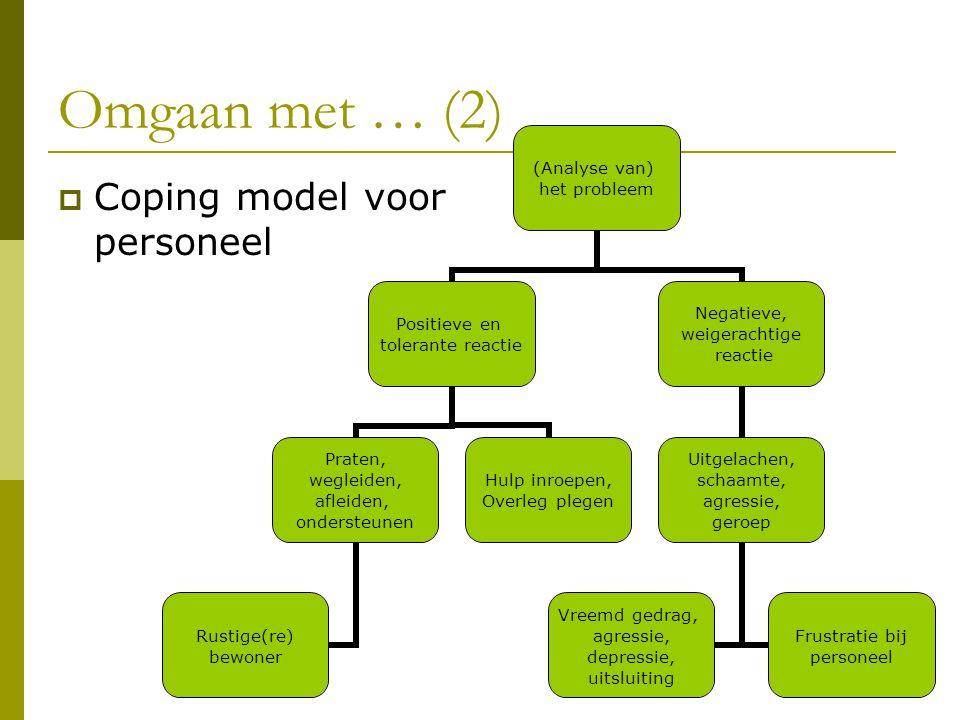 Omgaan met … (2) Coping model voor personeel