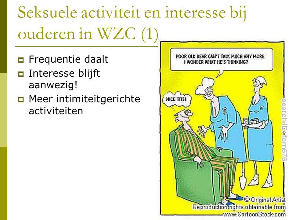 Seksuele activiteit en interesse bij ouderen in WZC (1)