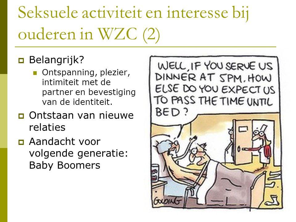 Seksuele activiteit en interesse bij ouderen in WZC (2)