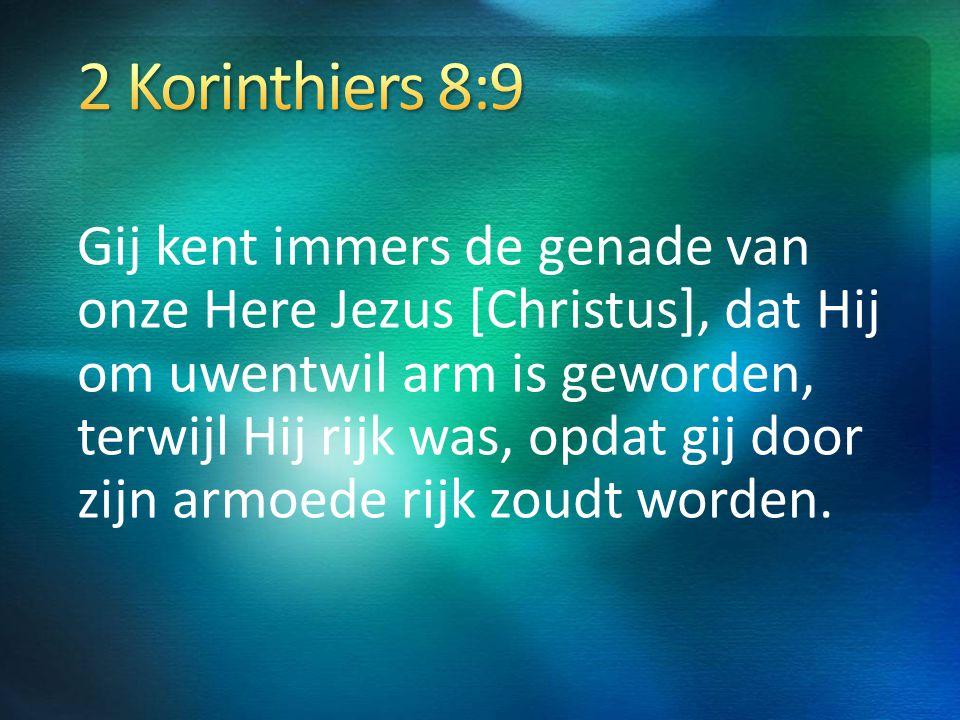 2 Korinthiers 8:9