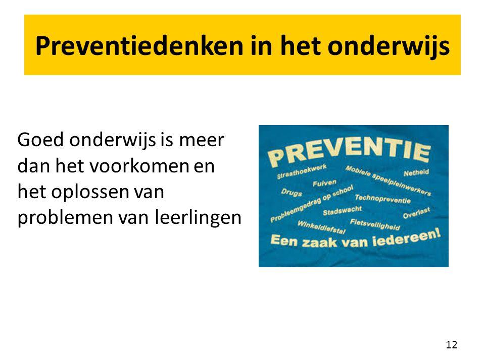 Preventiedenken in het onderwijs