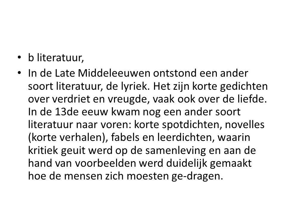 b literatuur,