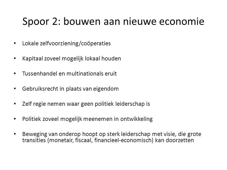 Spoor 2: bouwen aan nieuwe economie