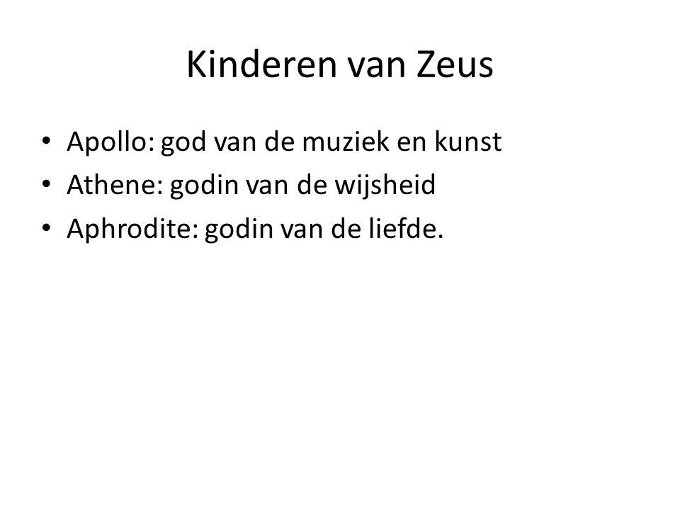 Kinderen van Zeus Apollo: god van de muziek en kunst