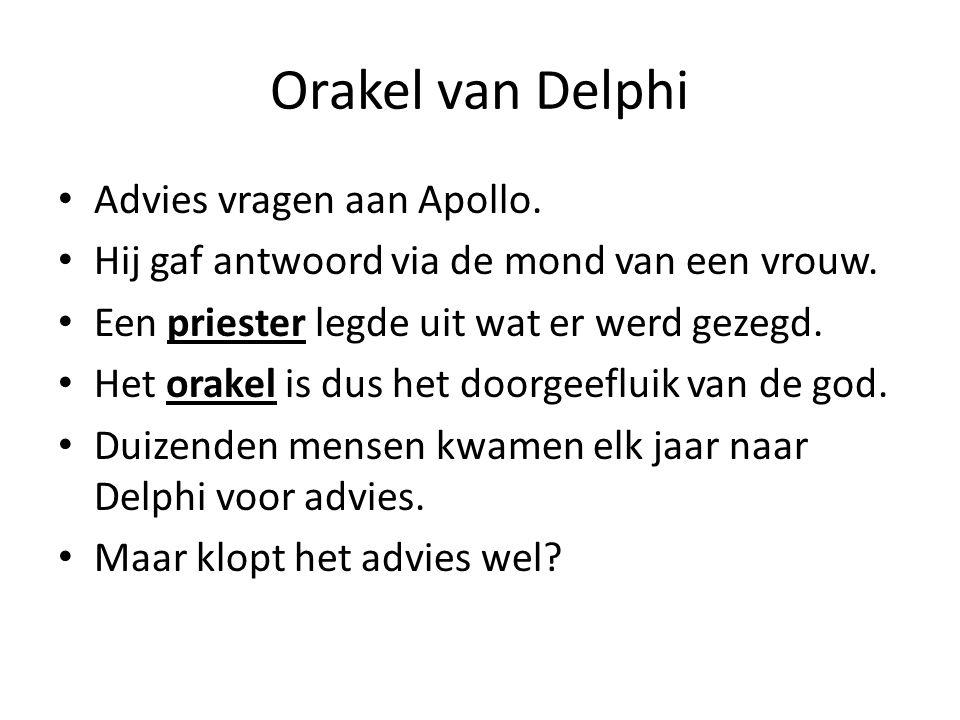 Orakel van Delphi Advies vragen aan Apollo.