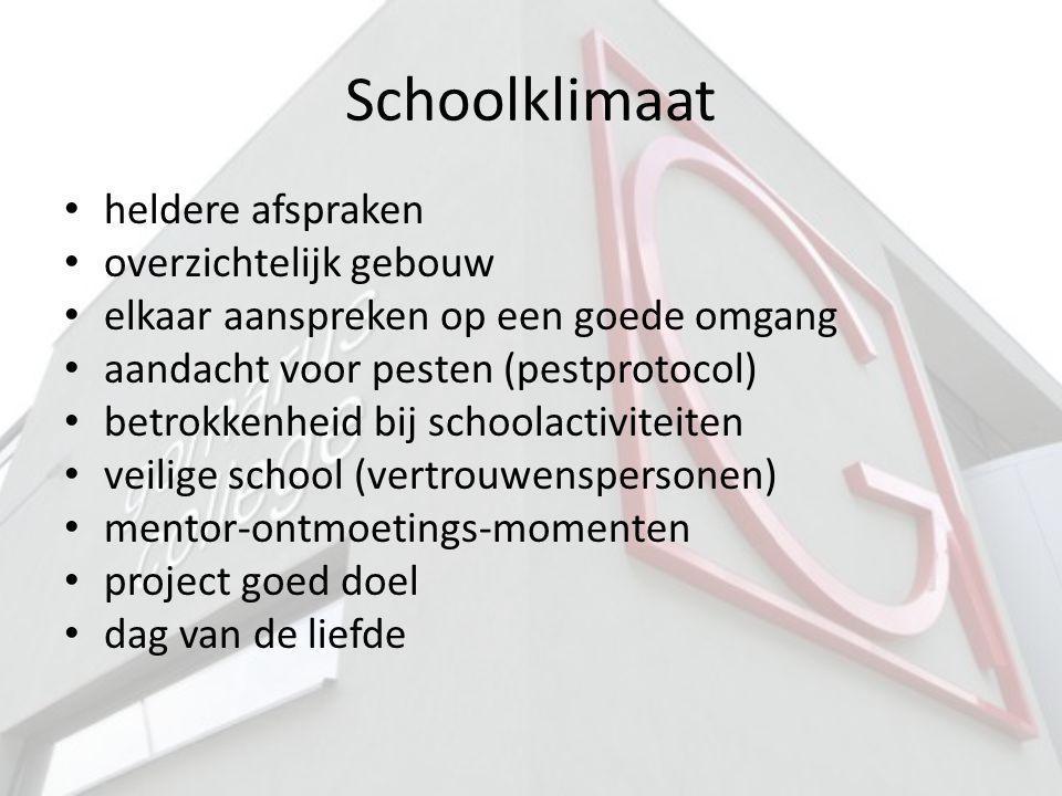 Schoolklimaat heldere afspraken overzichtelijk gebouw