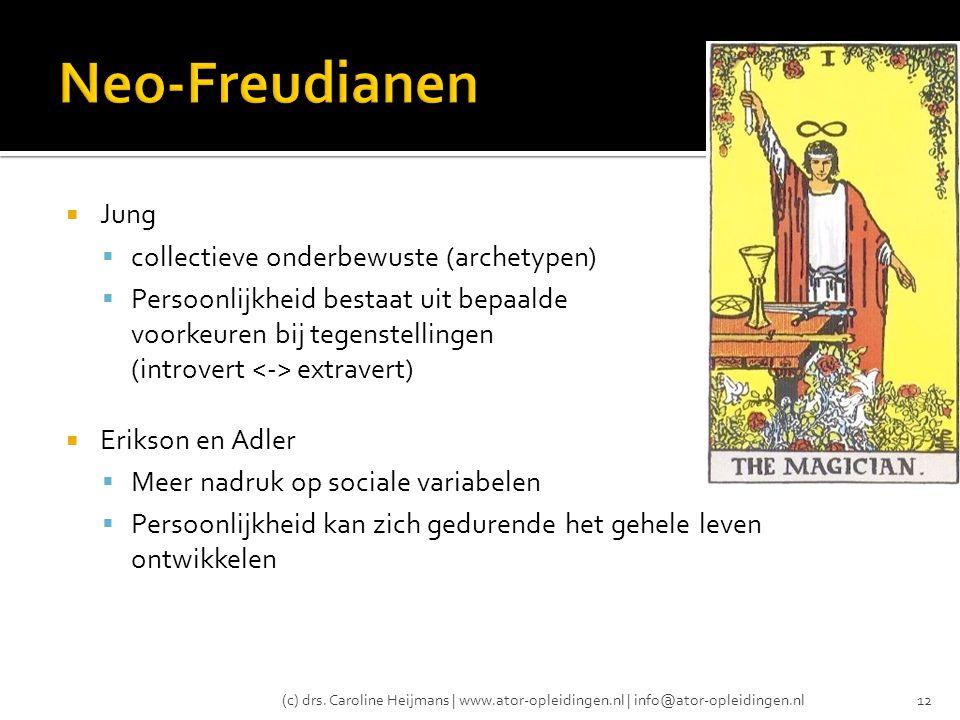 Neo-Freudianen Jung collectieve onderbewuste (archetypen)