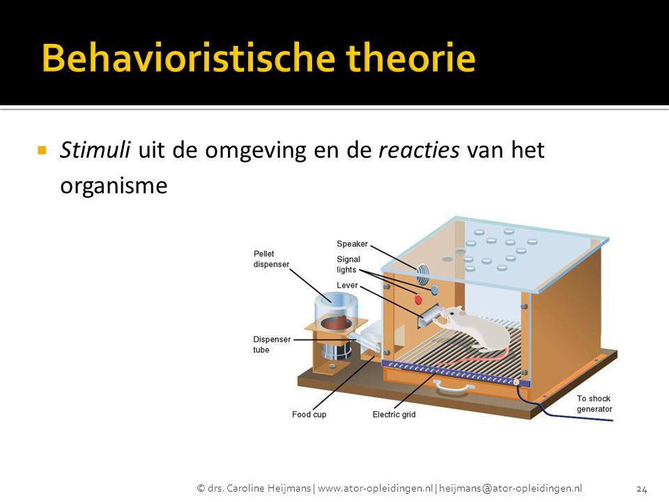 Behavioristische theorie
