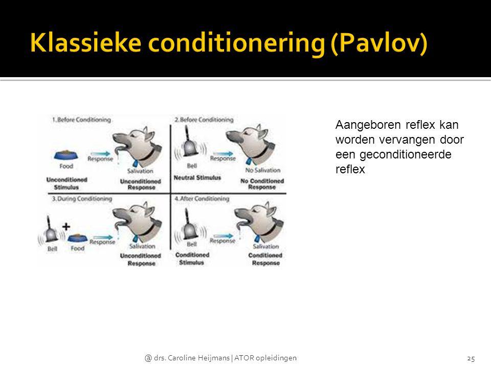Klassieke conditionering (Pavlov)