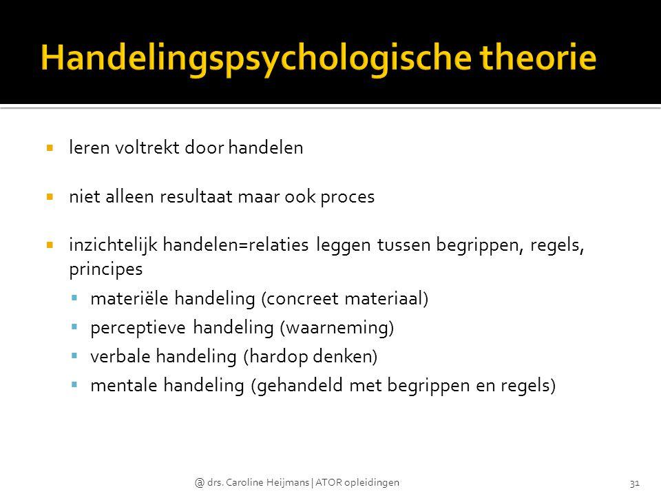 Handelingspsychologische theorie