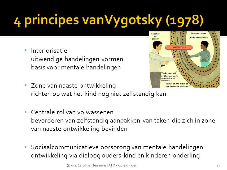 4 principes vanVygotsky (1978)