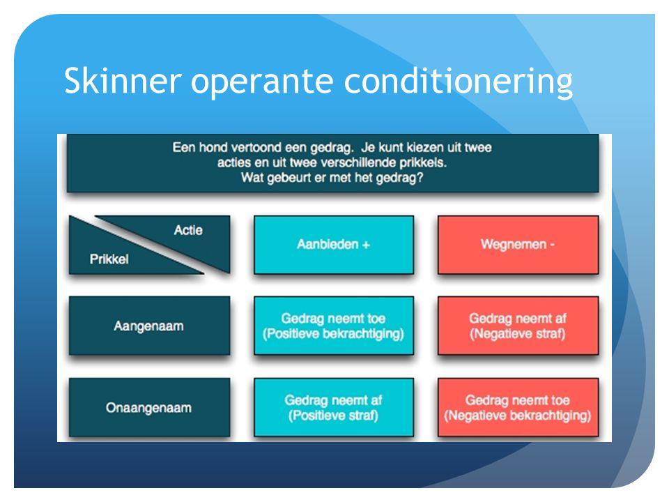 Skinner operante conditionering