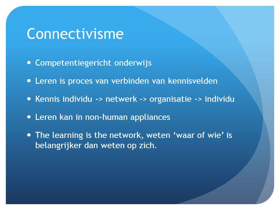 Connectivisme Competentiegericht onderwijs