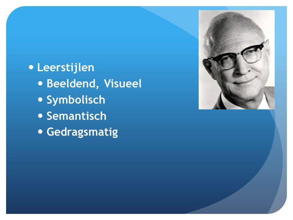 Leerstijlen Beeldend, Visueel Symbolisch Semantisch Gedragsmatig