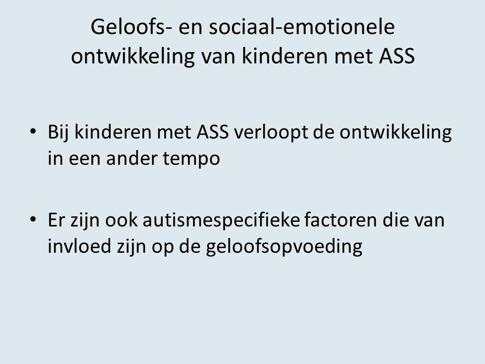 Geloofs- en sociaal-emotionele ontwikkeling van kinderen met ASS