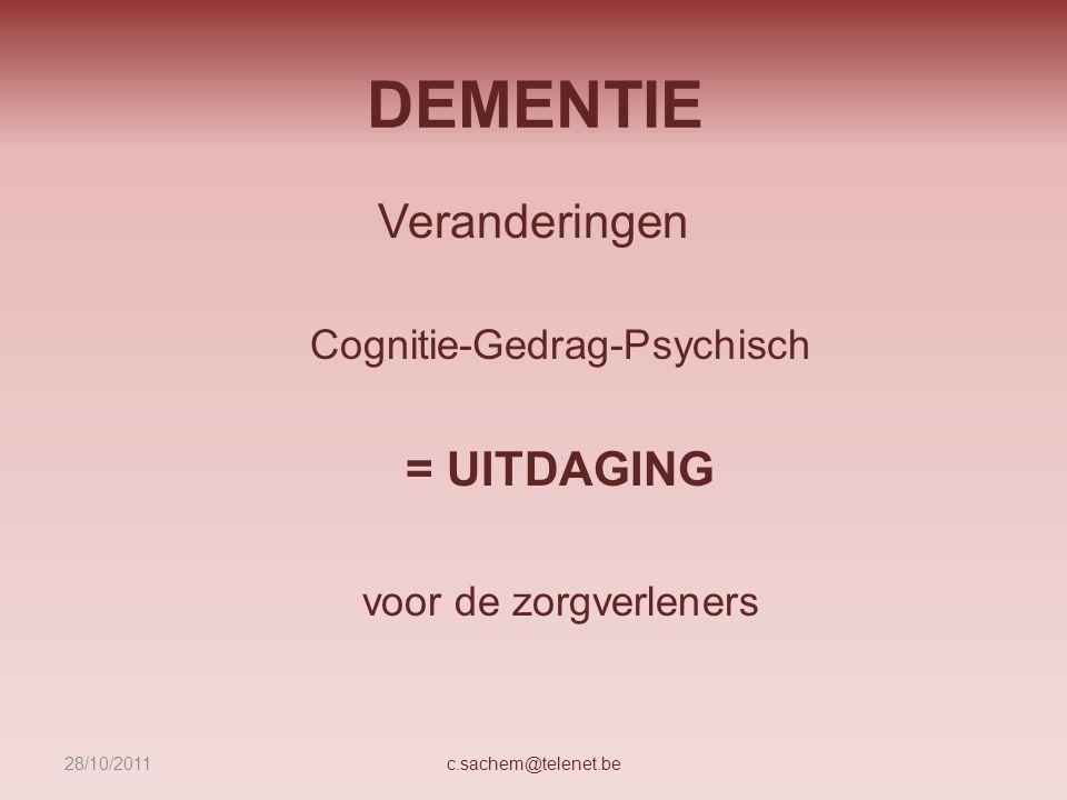 Cognitie-Gedrag-Psychisch