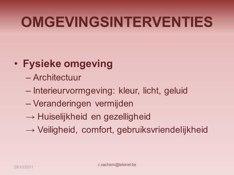 OMGEVINGSINTERVENTIES