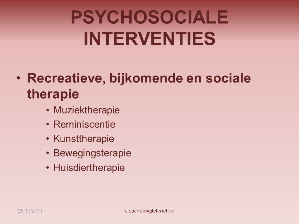 PSYCHOSOCIALE INTERVENTIES