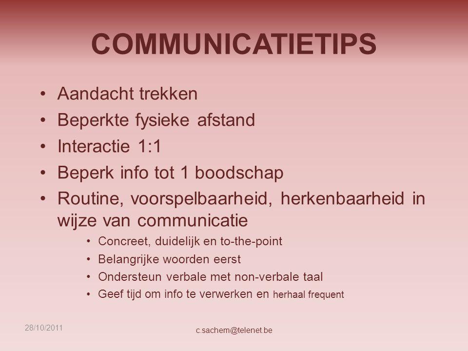 COMMUNICATIETIPS Aandacht trekken Beperkte fysieke afstand