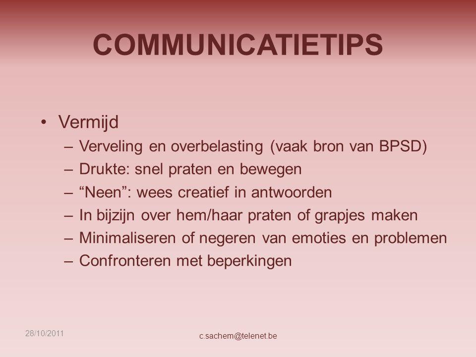 COMMUNICATIETIPS Vermijd