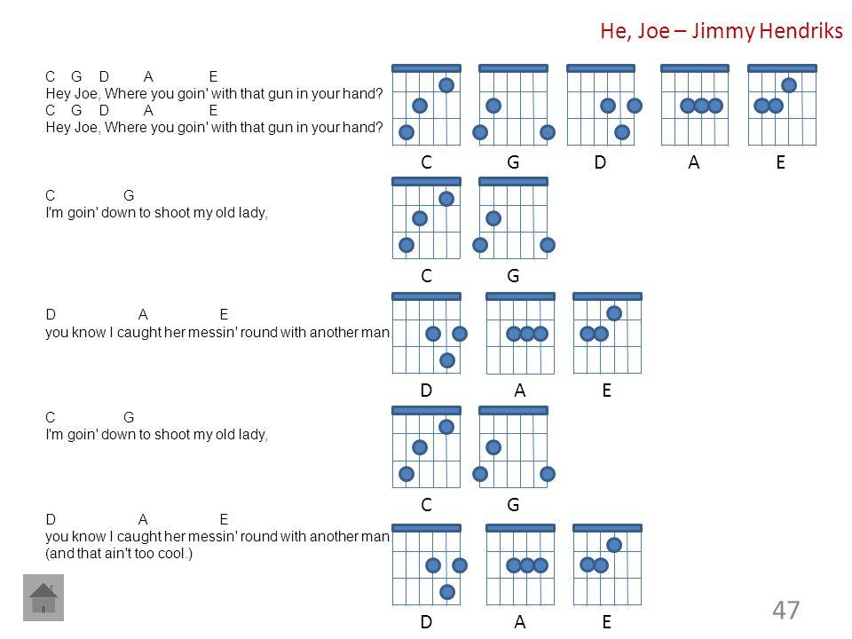 He, Joe – Jimmy Hendriks C G D A E C G D A E C G D A E C G D A E