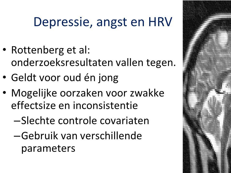 Depressie, angst en HRV Rottenberg et al: onderzoeksresultaten vallen tegen. Geldt voor oud én jong.